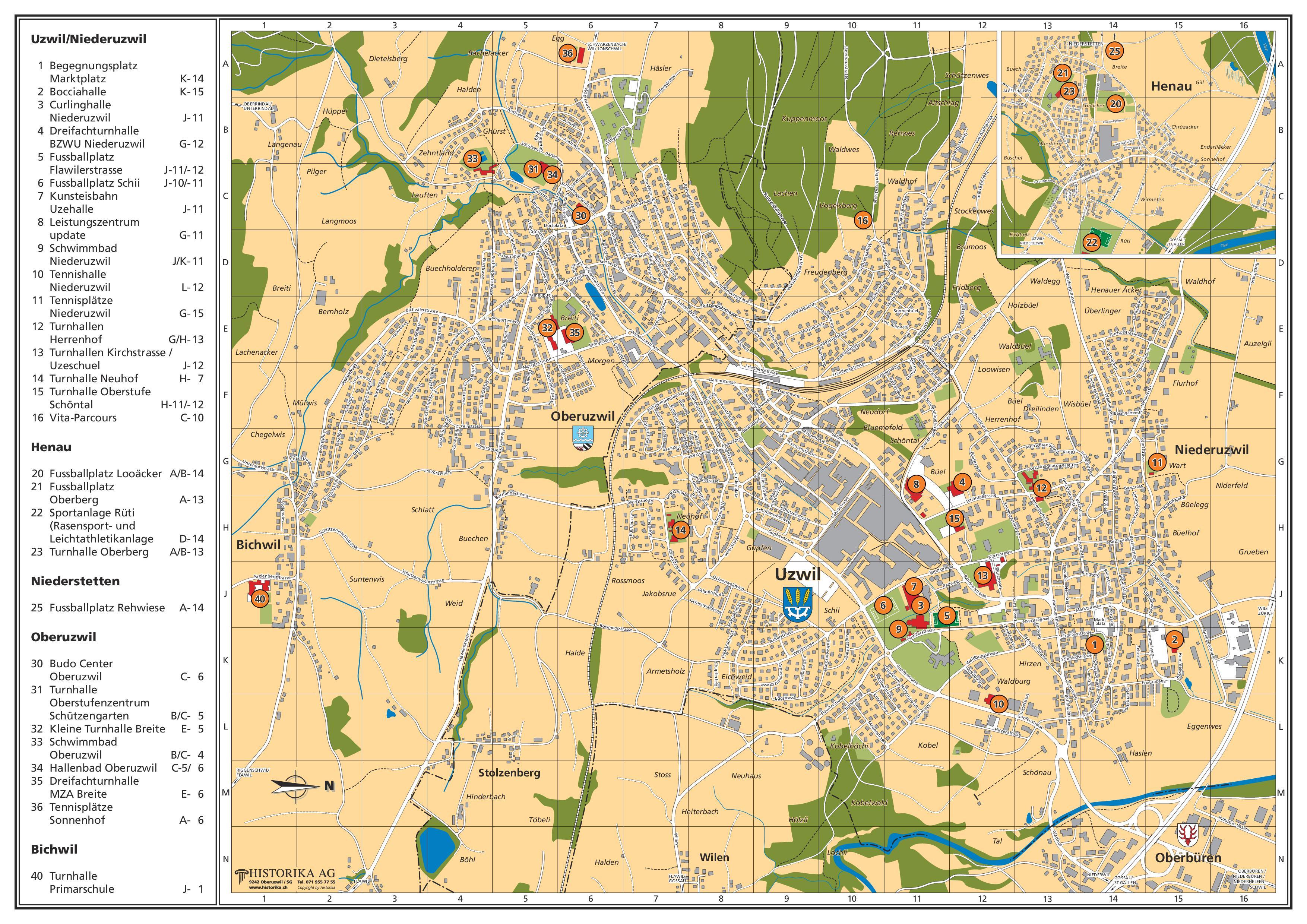 Ig Sport Region Uzwil - Lageplan 15 Sport Schwimmbad Designs
